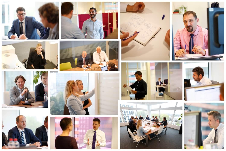 foto's van mensen op kantoor
